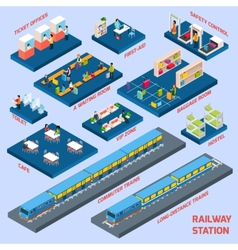 Railway station concept vector