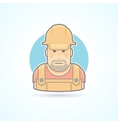 Worker repairman master icon avatar and person vector