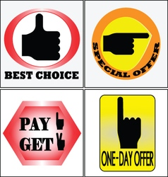 4 sell banners cs5 vector