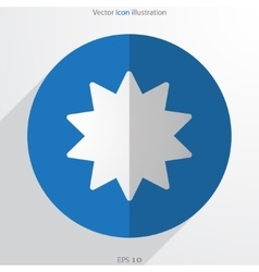 Star web icon vector