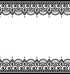Mehndi indian henna design - greetings card vector