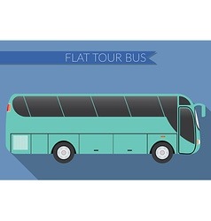 Flat design city transportation bus intercity long vector