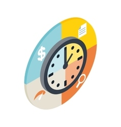 Time management icon isometric 3d style vector