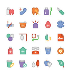 Health colored icons 4 vector