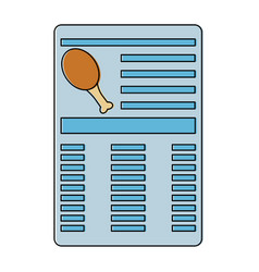 Chicken drumstick document information icon image vector