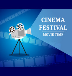 Cinema festival movie time invitation poster vector