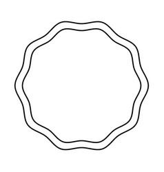 emblem stamp sticker blank line vector image vector image