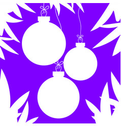 flat white isolated silhouettes of christmas toys vector image vector image