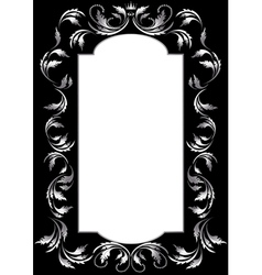 Frame of silver leaf vector image