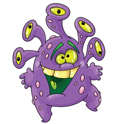 funny monster vector image