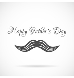 Happy fathers day and mustache background vector image