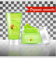 Kiwi scrub tube vector