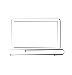 laptop technology device vector image vector image