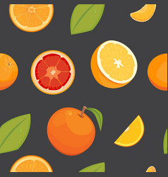 Orange seamless pattern on white background vector