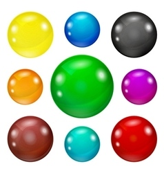 Set of colored glossy and shiny balls vector image