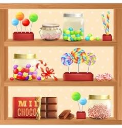 Sweet Store Shelf vector image