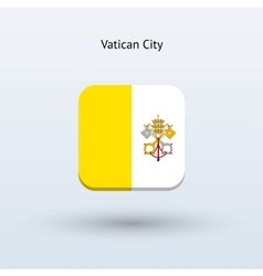 Vatican city flag icon vector