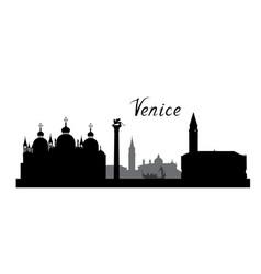 Venice city famous landmarks skyline travel italy vector
