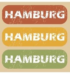 Vintage hamburg stamp set vector