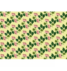 Watercolor retro flowers on green vector