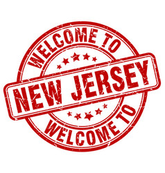 Welcome to new jersey vector