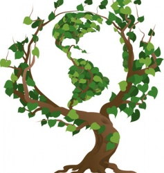 world tree vector image vector image
