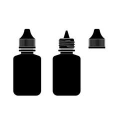 Eye drop bottle isolate on white background vector