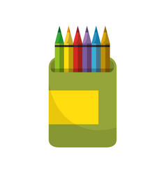 pencils colors box icon vector image