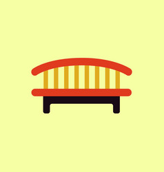 Wooden bench isolated on colorful background park vector