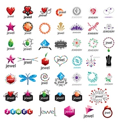 Large collection of logos jewelry vector