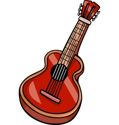 Acoustic guitar cartoon clip art vector