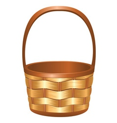 Wicker basket3 vector