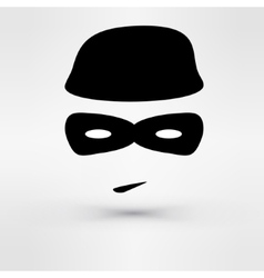 Black icon thief vector