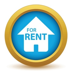 Gold for rent icon vector