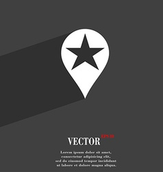 Map pointer award gps location icon symbol flat vector