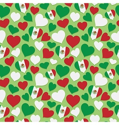 mexican heart pattern vector image
