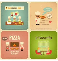 Pizzeria retro vector
