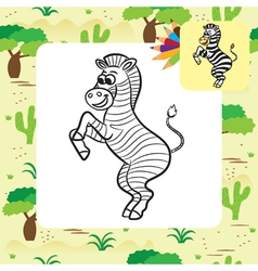 Zebra coloring page vector