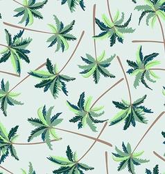 Tropical Australian foxtail palm seamless pattern vector image