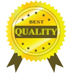 Best quality guaranteed label isolated on a white vector