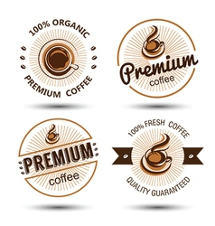 Coffee label vector