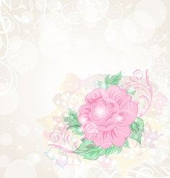 Abstract romantic celebration card with flower vector image