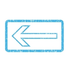 Arrow left icon rubber stamp vector