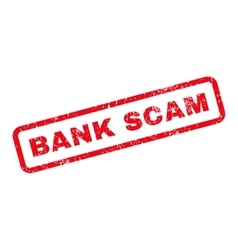 Bank scam text rubber stamp vector