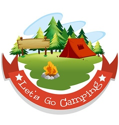 Banner design with camping theme vector