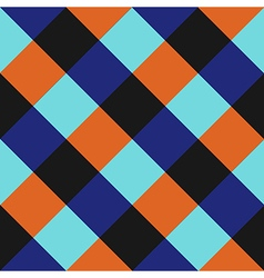 Blue orange chess board diamond background vector