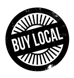 Buy local stamp vector image