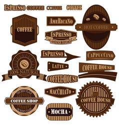 Coffee company brown vector