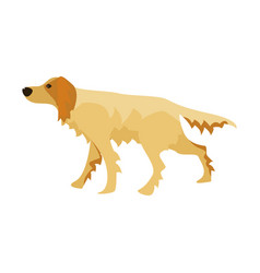 Flat cartoon style dog vector