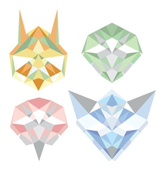 Geometric polygon animals vector